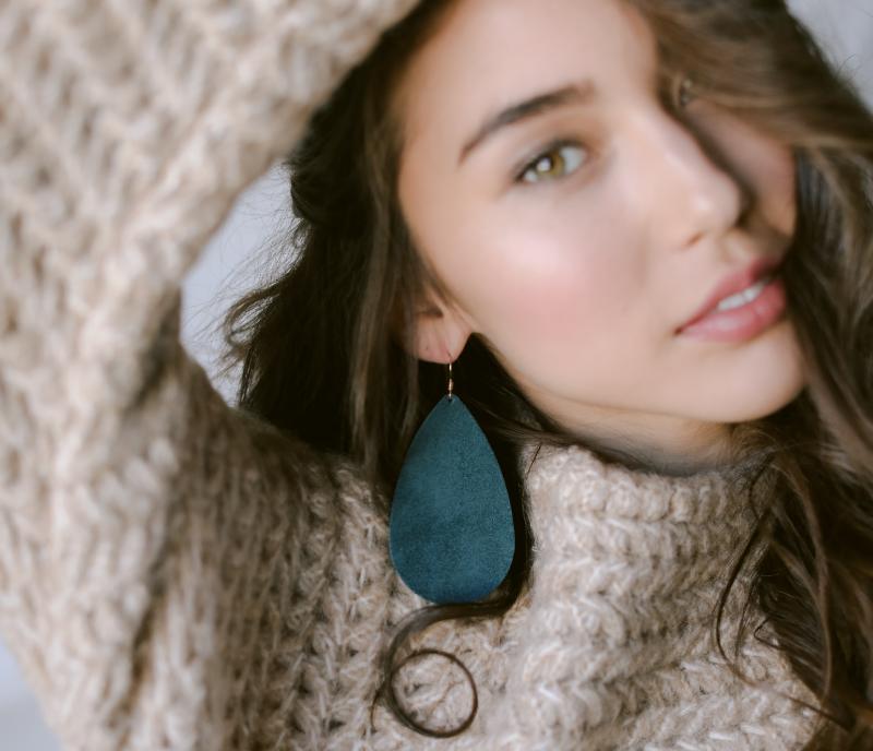 Lightweight leather Earrings