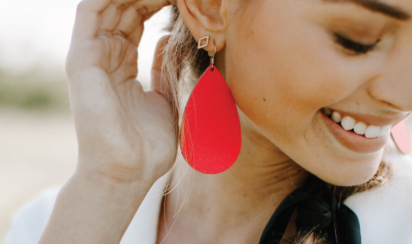 Lightweight leather Earrings