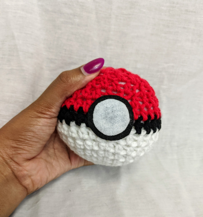 Crocheted PokeBall (Large)