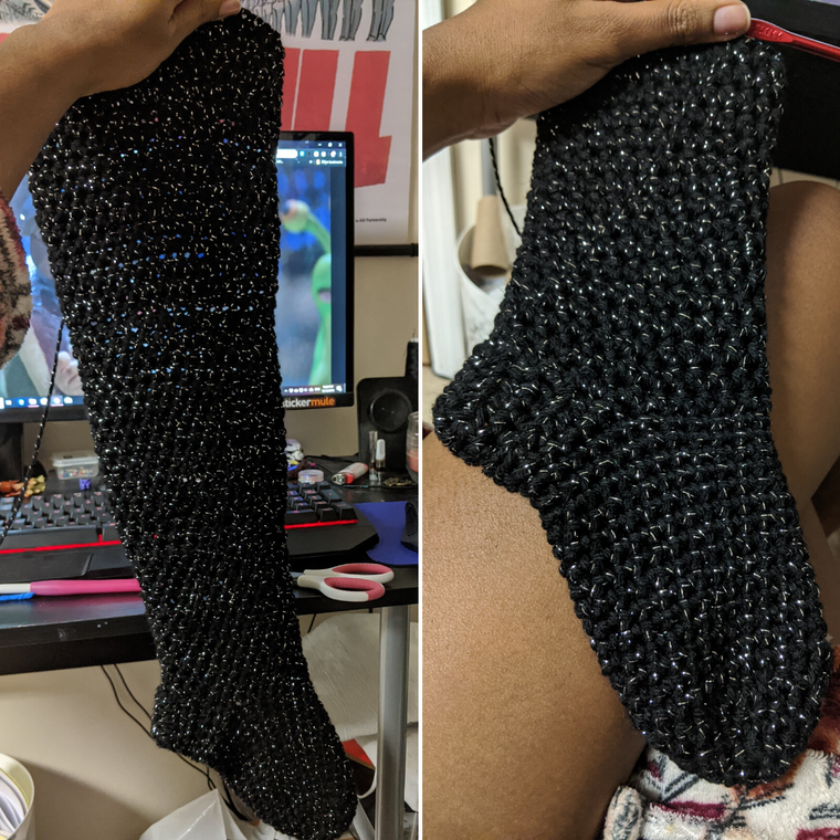 Thigh High Sock Pattern (Size 9-11)