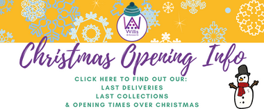 Christmas 2020 and New Year 2021 Opening Times