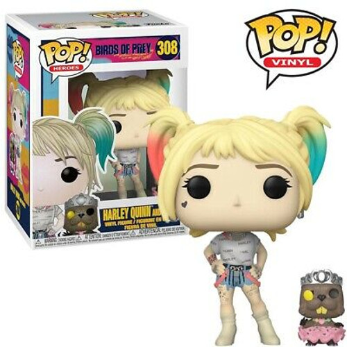 Birds of Prey: POP Figure - Harley Quinn w/ Beaver Pop Buddy