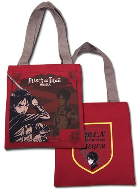Attack on Titan: Tote Bag - Eren Red