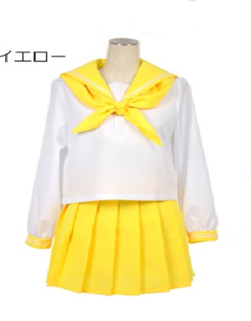 Joybank: Costume - Long Sleeve Sailor Uniform (Yellow) (Medium)
