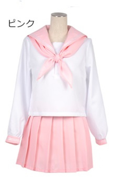 Joybank: Costume - Long Sleeve Sailor Uniform (Pink) (Medium)