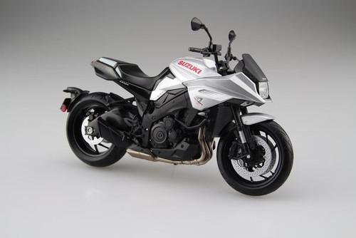 Diecast Motorcycle:1/12 Scale Complete Model - Suzuki GSX-S1000S Katana Metallic Mystic Silver