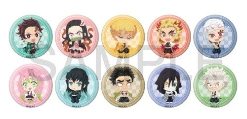 Demon Slayer: Button - Fuwaponi Series Trading Can Badge Vol.2