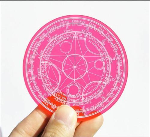 (C)Takumi Armory: Coaster - Magic Circle (Clear Red)