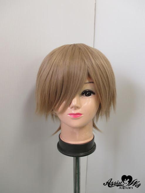 Assist: Wig - Layered Bob Short (Milk Tea Gold) (Premium)
