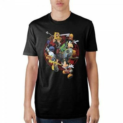 Kingdom Hearts: T-Shirt - Group with Mickey (Small)