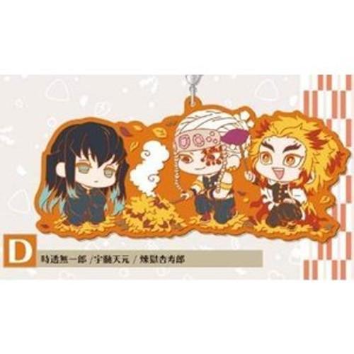 Demon Slayer: Phone Charm - Wachatto!Rubber Strap D (Muichiro, Uzui and Kyojuro)