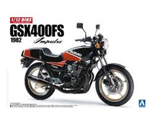 Aoshima: 1/12 Scale Bike Series Model Kit - 1982 Suzuki GSX400FS Impulse