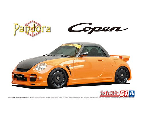 Aoshima The Tuned Car: 1/24 Scale Plastic Model Kit - Daihatsu Pandora Type887 EVOII L880K Copen 2002