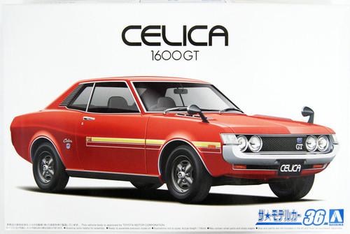 Aoshima The Model Car: 1/24 Scale Plastic Model Kit - 1972 Toyota TA22 Celica 1600GT