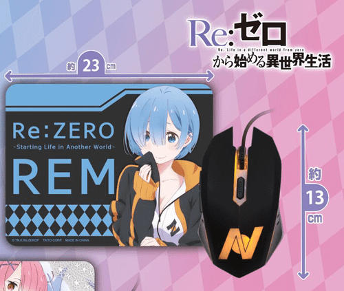 Re:Zero: Light Up Mouse/ Mouse Pad Set - Rem