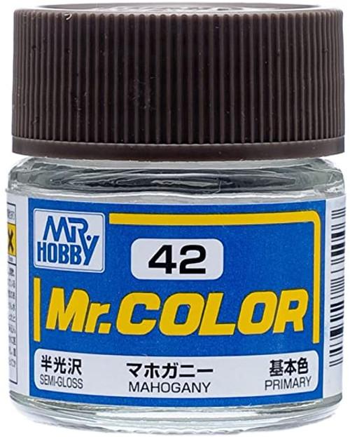Mr. Hobby: Paint Jar - Mr. Color C42 Semi Gloss Mahogany