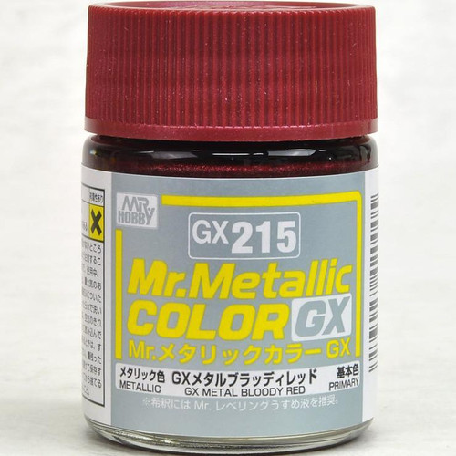 Mr. Hobby: Paint Jar - GX215 Mr. Metallic Color GX Metal Bloody Red