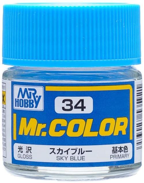 Mr. Hobby: Paint Jar - Gloss Sky Blue