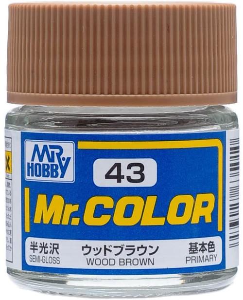 Mr. Hobby: Paint Jar - Semi-Gloss Wood Brown