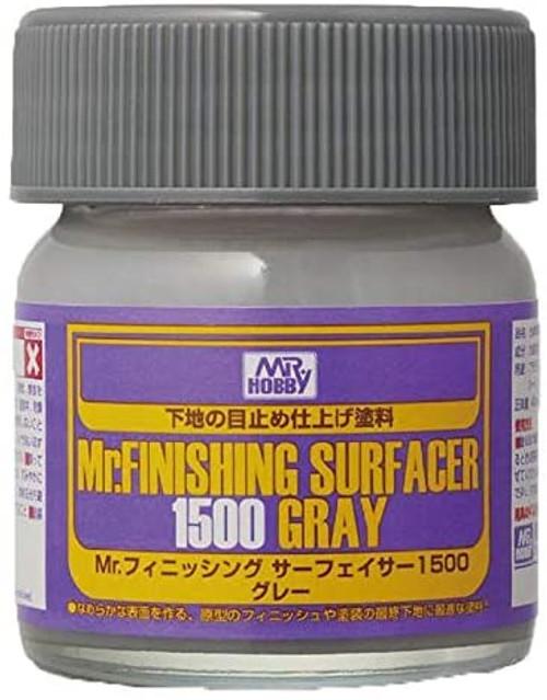 Mr. Hobby: Bottle - Mr. Finishing Surfacer 1500 Gray