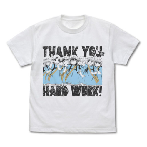 Cells at Work!: T-Shirt - Thank You For Your Hard Work! (X-Large)
