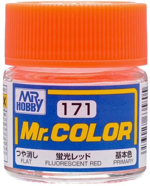 Mr. Hobby: Paint Jar - Mr. Color C171 Semi-Gloss Fluorescent Red 10ml