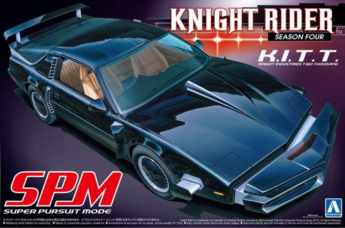 Knight Rider: Aoshima 1/24 Scale Model - Knight Industries Two Thousand K.I.T.T. (KITT) Season Four SPM Super Pursuit Mode