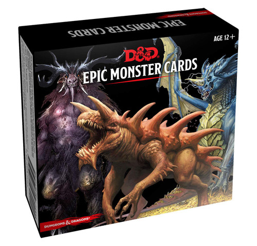 Wizards of the Coast: Dungeons & Dragons - Dungeons & Dragons Spellbook Cards: Epic Monsters
