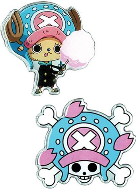 One Piece: Pins- Chopper & Chopper Pirates Jolly Roger (Set of 2)