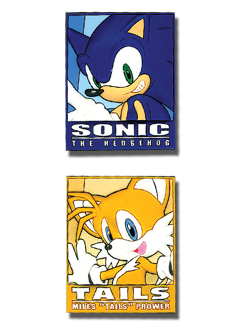 Sonic: Pins - Sonic and Tails Frame (Set of 2)