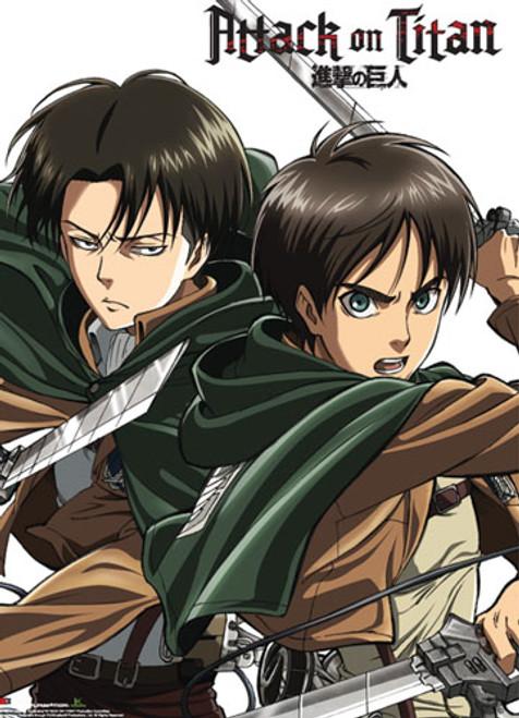 Attack on Titan: Premium Wall Scroll - Levi & Eren