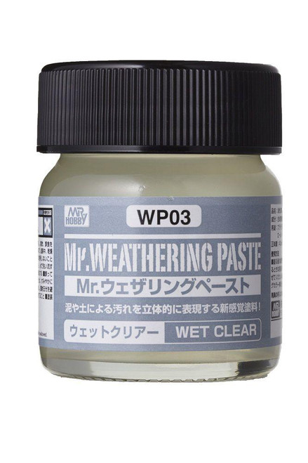 Mr. Hobby: Weathering Paste- Mr. Weathering Paste Wet Clear