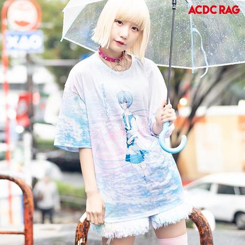 ACDC Rag: T-Shirt - Evangelion Rei & Asuka