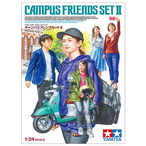 Tamiya: 1/24 Scale Model Kit - Campus Friends Set II