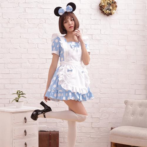 BodyLine: Costume - Polka Dots Maid (Sax Blue) (Large)