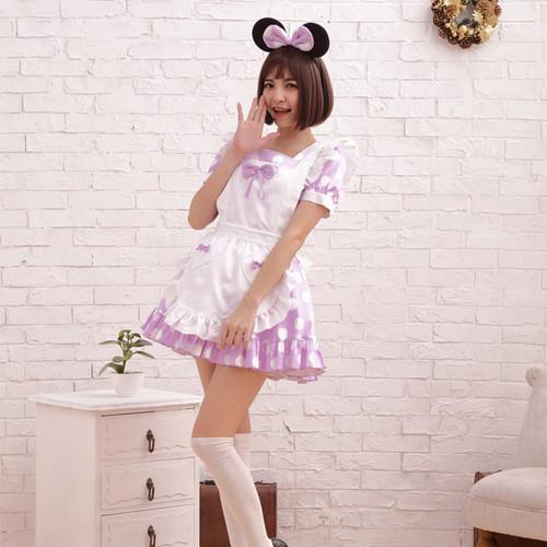 BodyLine: Costume - Polka Dots Maid (Purple) (Large)
