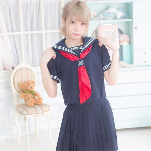BodyLine: Costume - Sailor Uniform Hibiya (Navy x Red) ( X-Large)