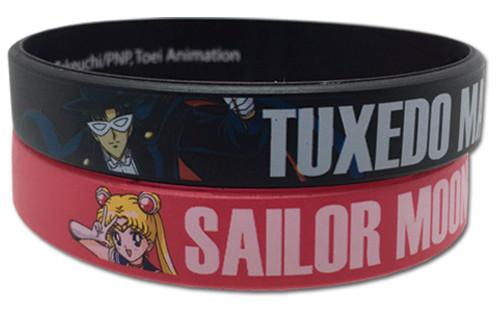 Sailor Moon : Wristband - Sailor Moon & Tuxedo Mask PVC