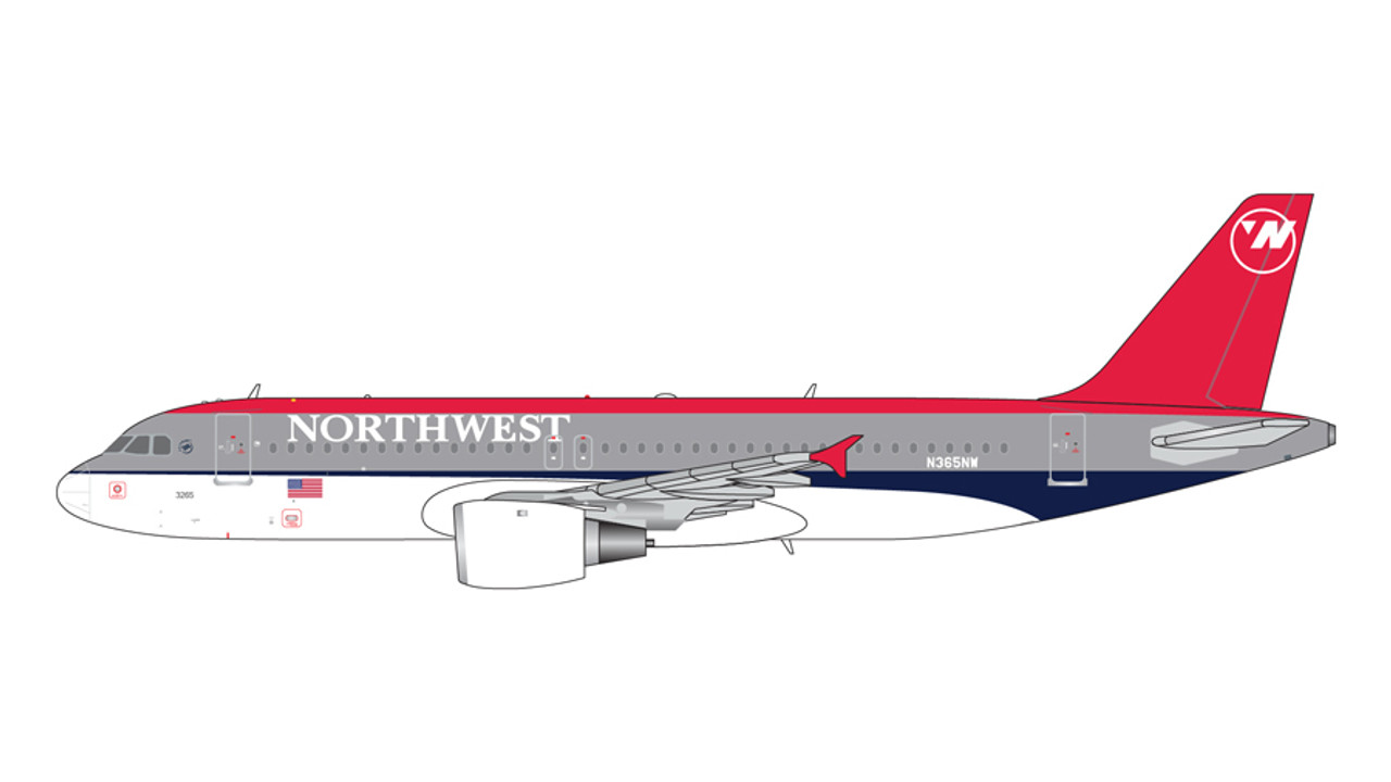 Gemini Jets 1:400 Northwest Airlines Airbus A320-200 N365NW GJNWA371 IN STOCK