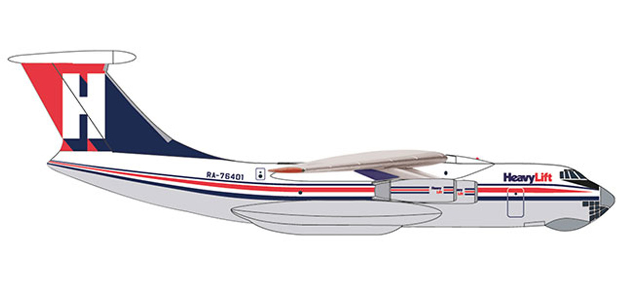 Herpa Wings 224 Flight Unit State Airlines Ilyushin IL-76 532631