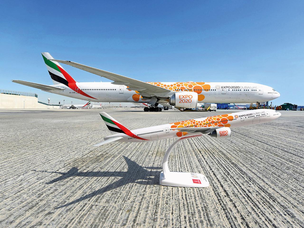 """Herpa 533720-1//500 Emirates Boeing 777-300ER Expo 2020 Dubai /""""Sustainability"""