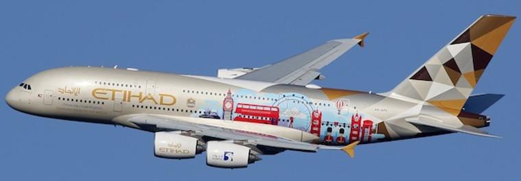 JC Wings Etihad Airways Airbus A380 (Choose the United Kingdom) A6-APC 1/200 XX2424