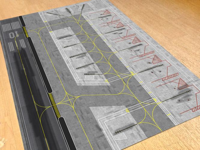 AMS Airport Paper Mat 1/400 & 1/500
