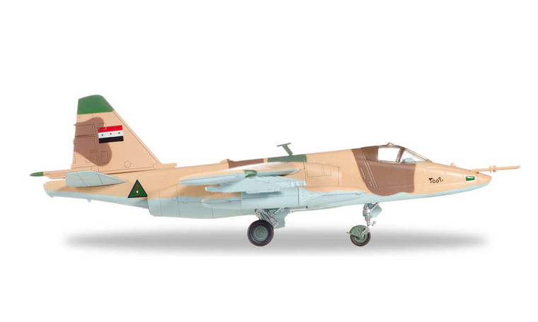 "Herpa Iraqi Air Force Sukhoi SU-25K ""Frogfoot"" − Jalieh Air Base, Iraq, 1991 1/72 82MLCZ7206"