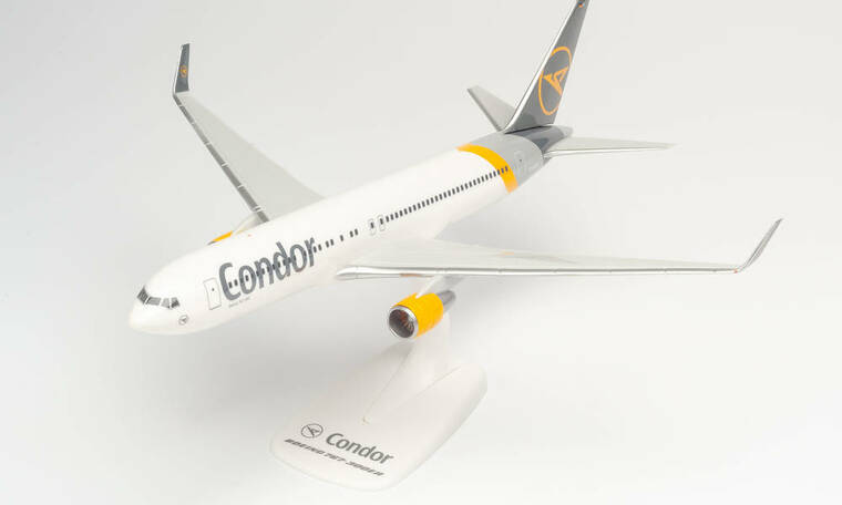 """Herpa Condor Boeing 767-300 - new 2019 colors """"D-ABUF"""" Snap-Fit 612647"""