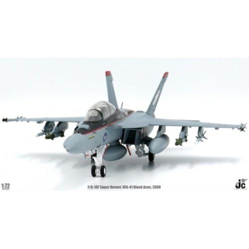 JC Wings Military F/A-18F Super Hornet VFA-41 Black Aces USS Nimitz CVN-68 2008 1/72 JCW72F18001