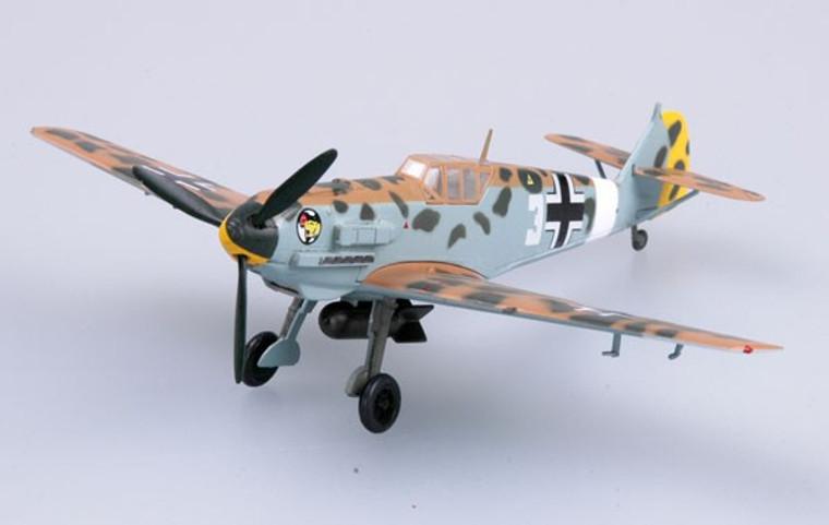 Easy Models Messerschmitt Bf109E-7 Trop 3 Blanc I/JG27 1/72  EM37279
