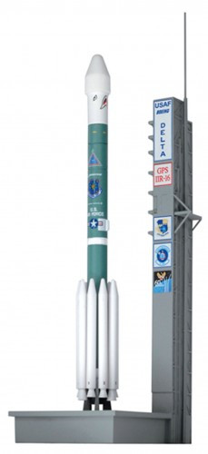 "Dragon Space Delta II Rocket USAF ""GPS-IIR-16"" - 1/400 DW56334"