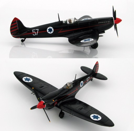 "HobbyMaster Spitfire IXe ""Ezer Weisman"" 105 Sqn Ramat David AB June 1955-Ltd1000  1/48 HA8313"