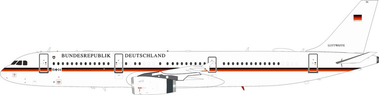 Inflight200 Airbus A321-231 German Air Force 1504 1/200 IF321GAF04